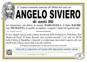 Necrologio di SIVIERO ANGELO