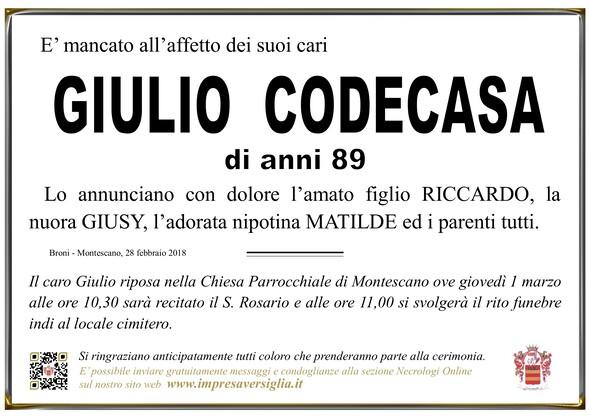 Necrologio di Giulio Codecasa