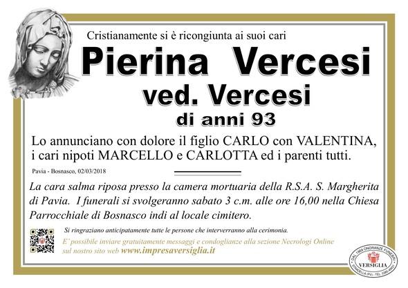 Necrologio di Pierina Vercesi