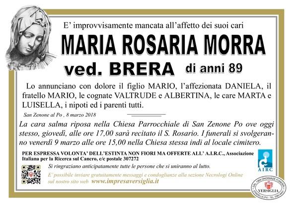 Necrologio di Morra Maria Rosaria