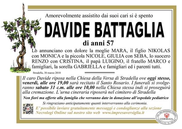Necrologio di BATTAGLIA DAVIDE