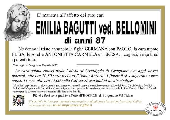 Necrologio di BAGUTTI EMILIA