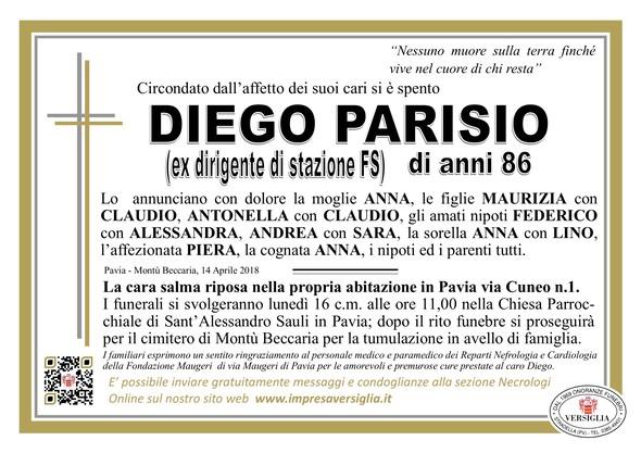 Necrologio di Parisio Diego
