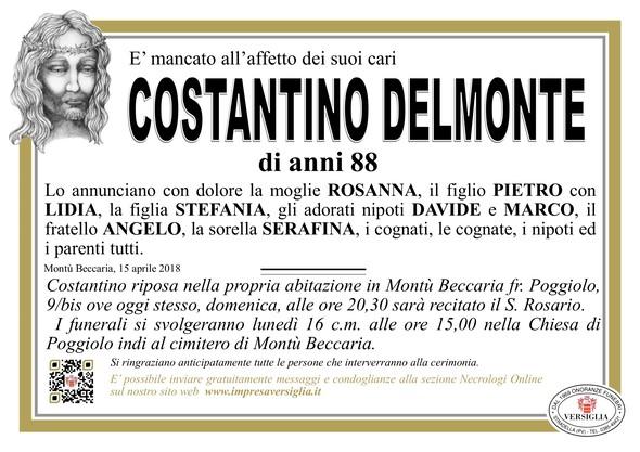 Necrologio di DELMONTE COSTANTINO