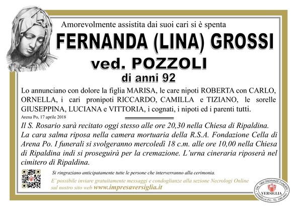 Necrologio di Fernanda (Lina) Grossi