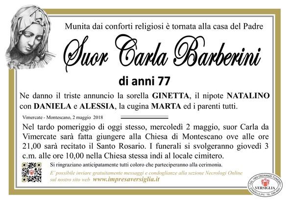 Necrologio di Suor Carla Barberini