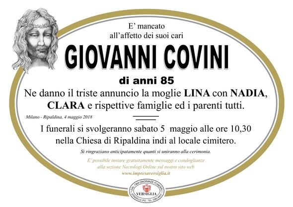 Necrologio di COVINI GIOVANNI