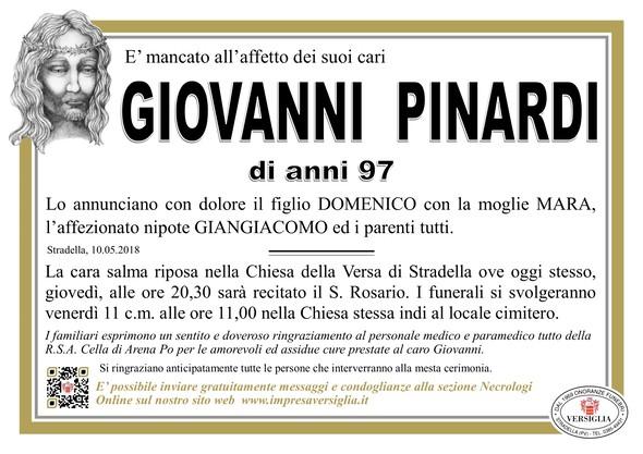 Necrologio di Giovanni Pinardi