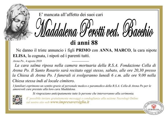 Necrologio di Perotti Maddalena