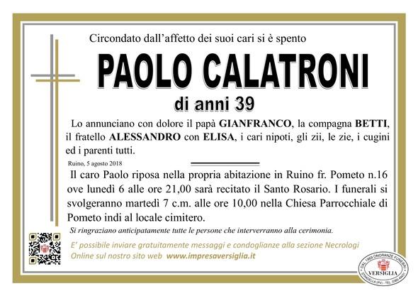 Necrologio di Calatroni Paolo