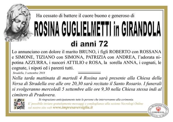 Necrologio di Rosina Guglielmetti
