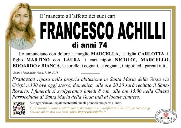 Necrologio di Francesco Achilli