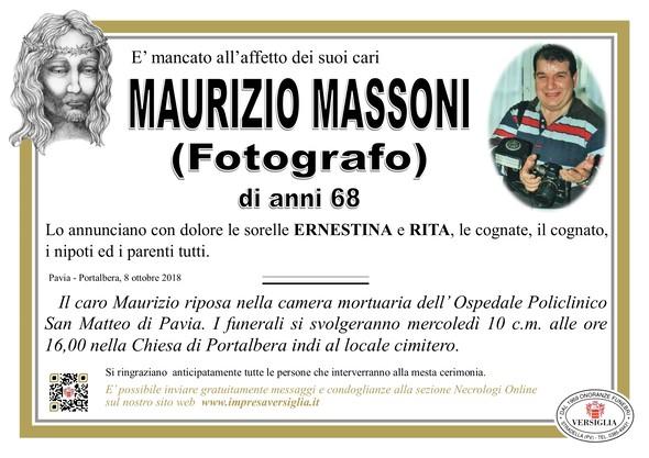 Necrologio di Maurizio Massoni