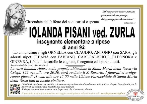 Necrologio di PISANI IOLANDA