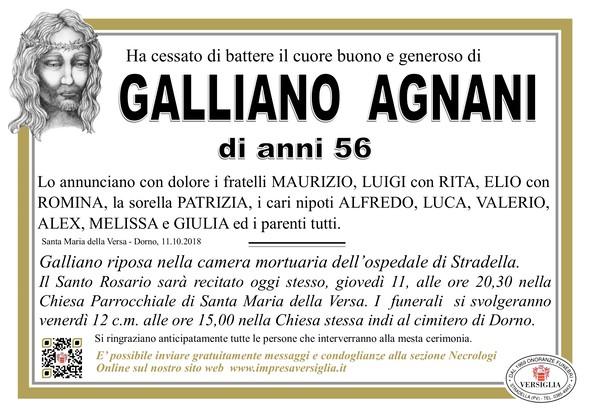 Necrologio di Galliano Agnani