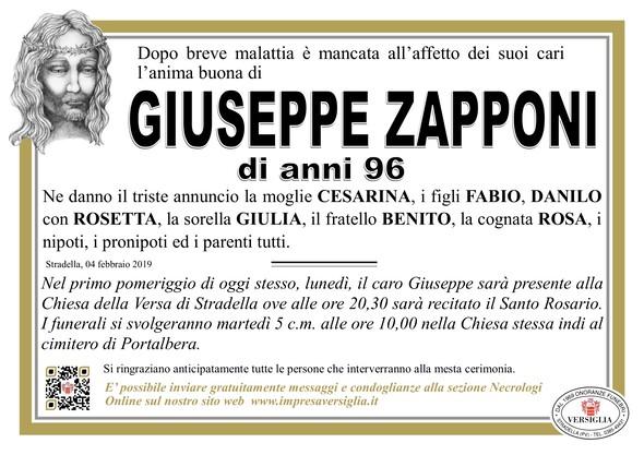 Necrologio di Giuseppe Zapponi