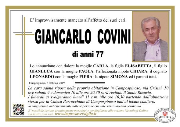 Necrologio di Giancarlo Covini
