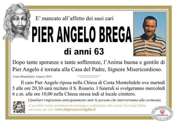Necrologio di Pier Angelo Brega