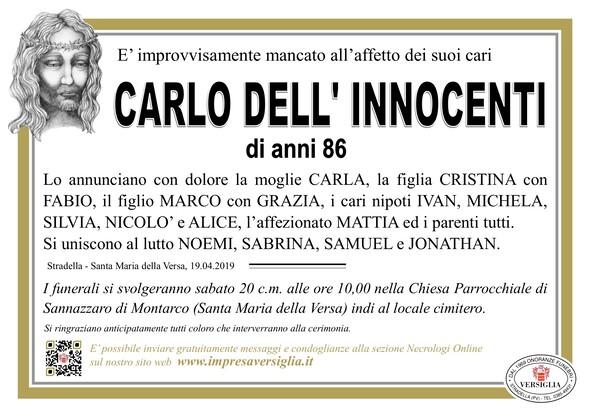 Necrologio di Dell'Innocenti Carlo