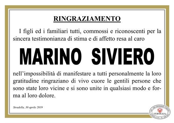 Ringraziamenti per Marino Siviero