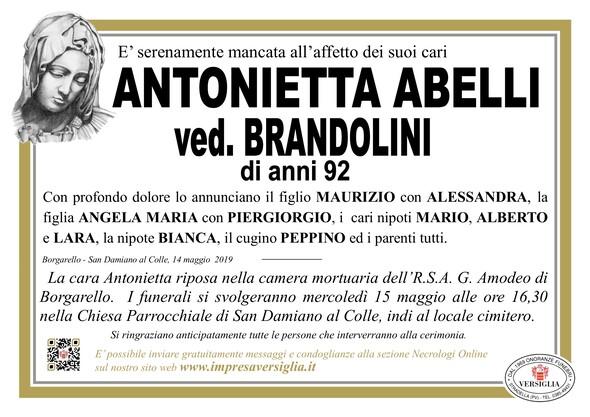 Necrologio di Abelli Antonietta