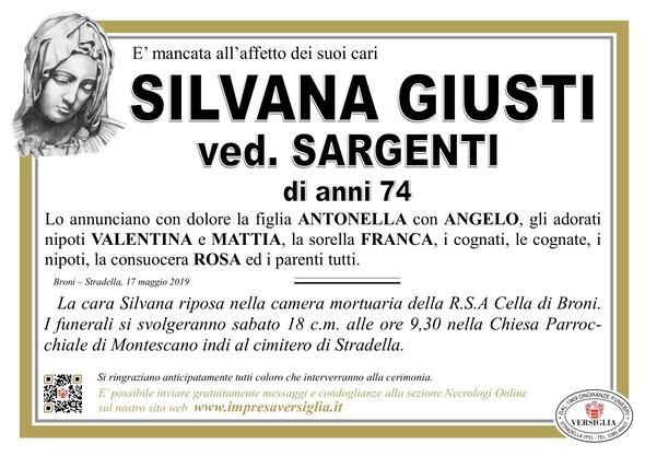 Necrologio di Silvana Giusti