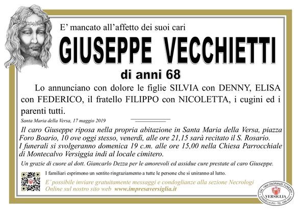 Necrologio di Giuseppe Vecchietti