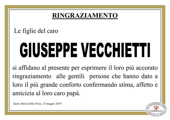 Ringraziamenti per Giuseppe Vecchietti