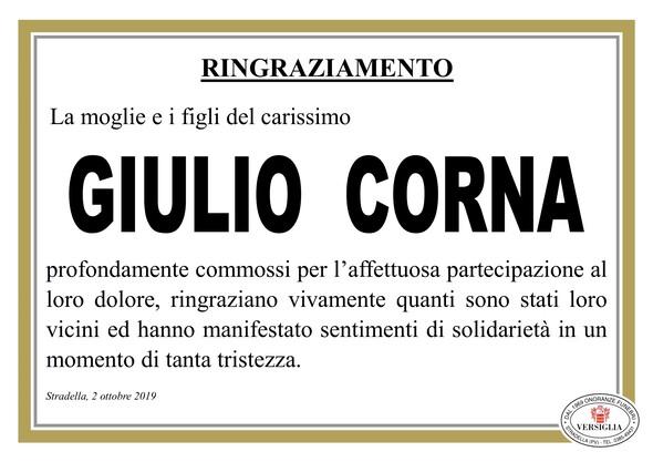 Ringraziamenti per Corna Giulio
