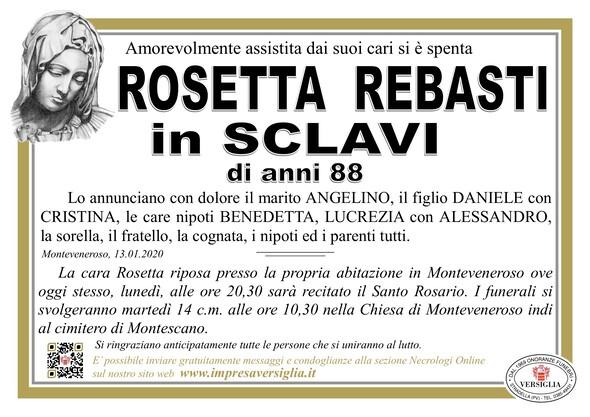 Necrologio di Rebasti Rosetta