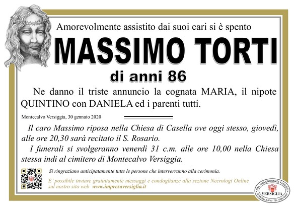 Necrologio di Massimo Torti