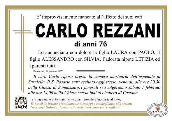 Necrologio di Carlo Rezzani