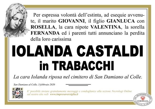 Necrologio di Castaldi Iolanda
