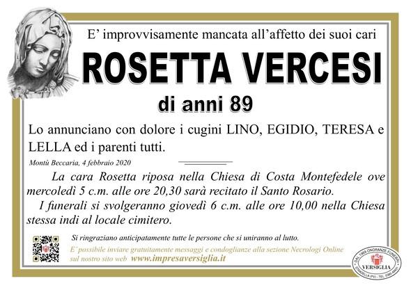 Necrologio di Vercesi Rosa