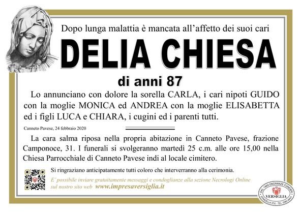 Necrologio di Chiesa Delia