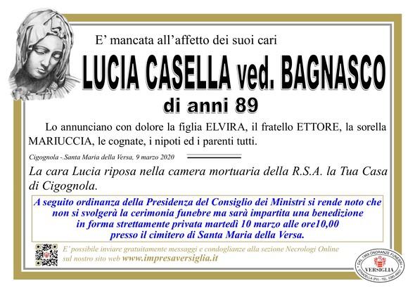 Necrologio di Casella Lucia