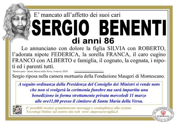 Necrologio di Benenti Sergio