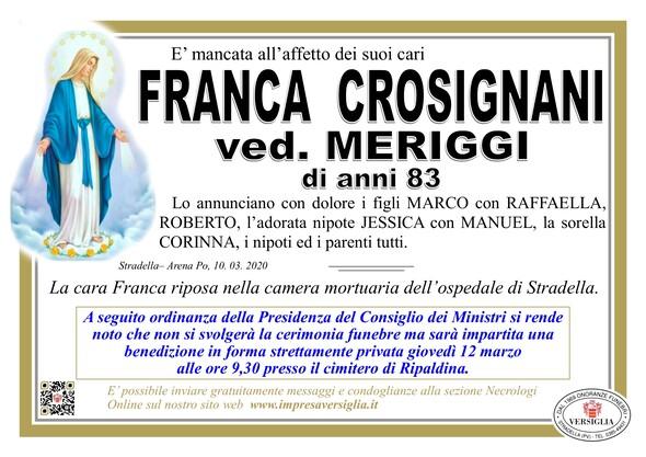 Necrologio di Crosignani Franca