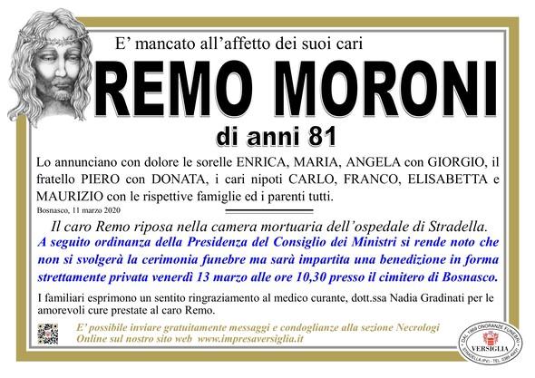 Necrologio di Moroni Remo
