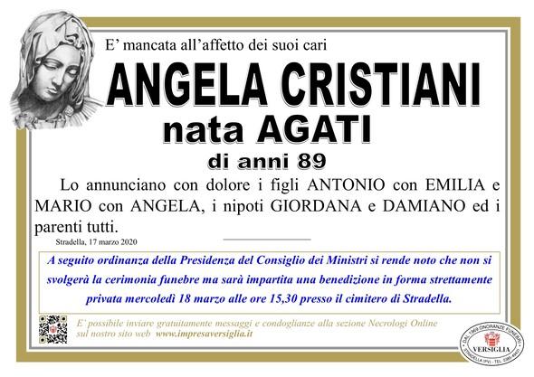 Necrologio di Angela Cristiani nata Agati