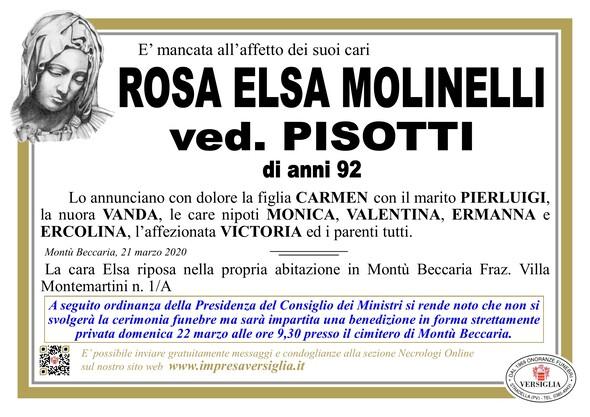 Necrologio di MOLINELLI ROSA