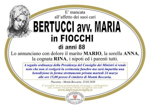 Necrologio di Bertucci avv. Maria