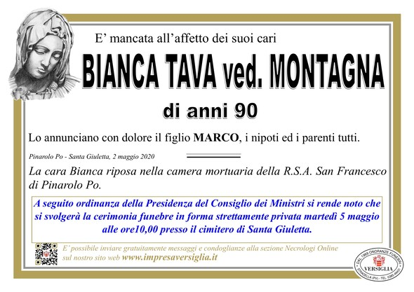 Necrologio di TAVA BIANCA