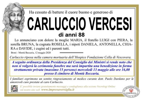 Necrologio di VERCESI CARLUCCIO