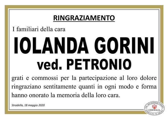 Ringraziamenti per Iolanda Gorini