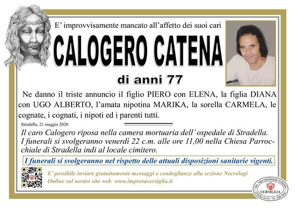 Necrologio di Catena Calogero