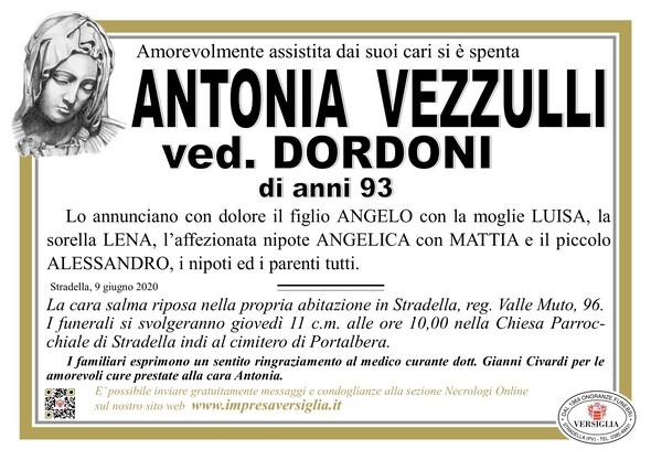 Necrologio di Vezzulli Antonia