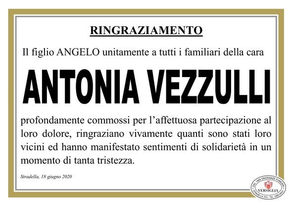 Ringraziamenti per Vezzulli Antonia