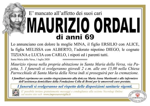 Necrologio di Ordali Maurizio
