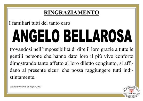 Ringraziamenti per Bellarosa Angelo